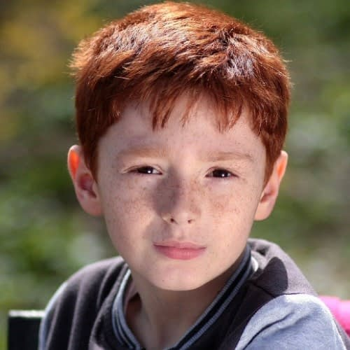 young white boy with red hair